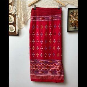 Handmade Embroidered Wrap Skirt